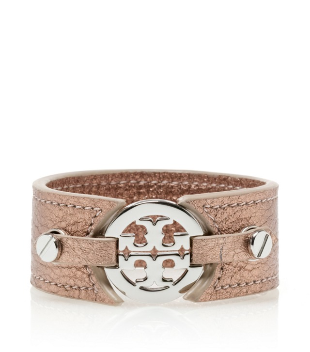 METALLIC LOGO SKINNY DOUBLE SNAP CUFF