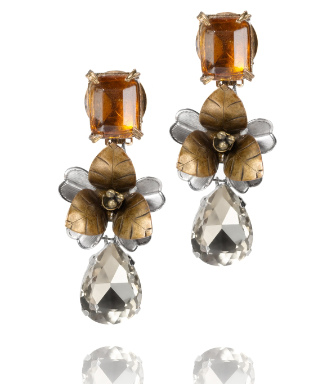 Tory Burch Emerald Stone Tear Drop Earring