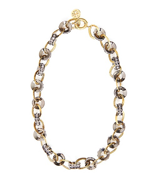 RHINESTONE CHAINLINK NECKLACE