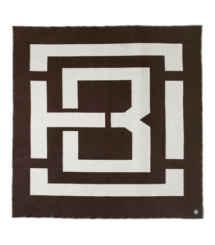 Brown/ivory Tory Burch Tb Graphic Blanket