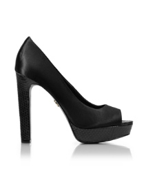 MACKENZIE 125mm OPEN TOE PUMP | BLACK | 001
