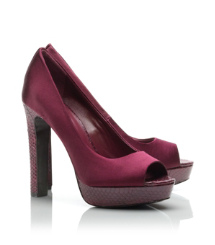 MACKENZIE 125mm OPEN TOE PUMP | MERLOT WINE | 520