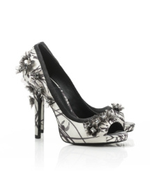 Printed Pixie Open Toe Pump
