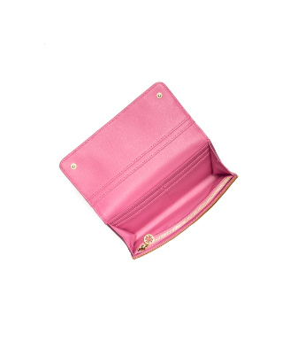 Luggage/french Rose Tory Burch Robinson Envelope Continental Wallet