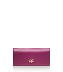 Purple Gem/clay Beige Tory Burch Robinson Envelope Continental Wallet