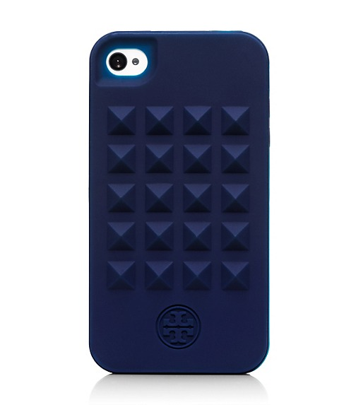 Pyramid Stud Silicone Case For iPhone 4
