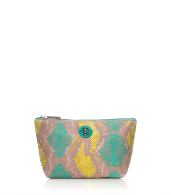 Sea Urchin Multi (pop Snake B) Tory Burch Pop Snake Small Slouchy Cosmetic Case
