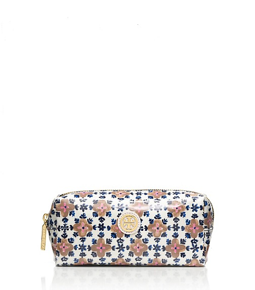 Printed Coated Poplin Cosmetic Case