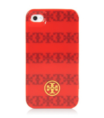"Tory Burch ""t"" Stripe Jacquard Hardshell Case For Iphone 4"