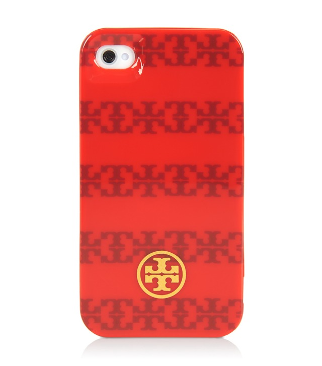 """T"" Stripe Jacquard Hardshell Case for iPhone 4"