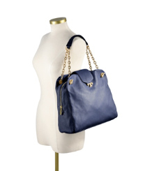 Parisian Blue Tory Burch Megan Satchel