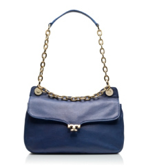 Parisian Blue Tory Burch Megan Small Shoulder Bag