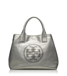 Tory Burch Small Perforated Logo Tote