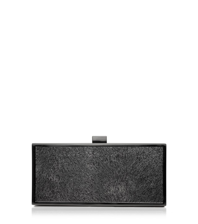 Sparkle Suede Square Frame Clutch
