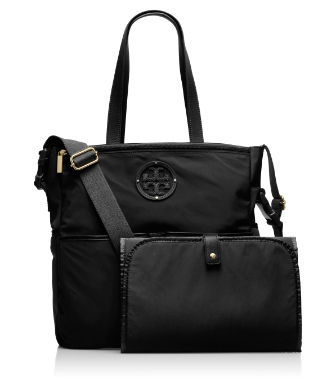 Black Tory Burch Stacked Logo Billy Baby Bag