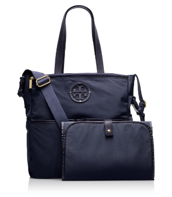 Normandy Blue Tory Burch Stacked Logo Billy Baby Bag