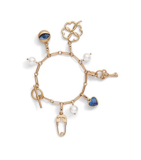 Chic Tory Burch charm bracelet