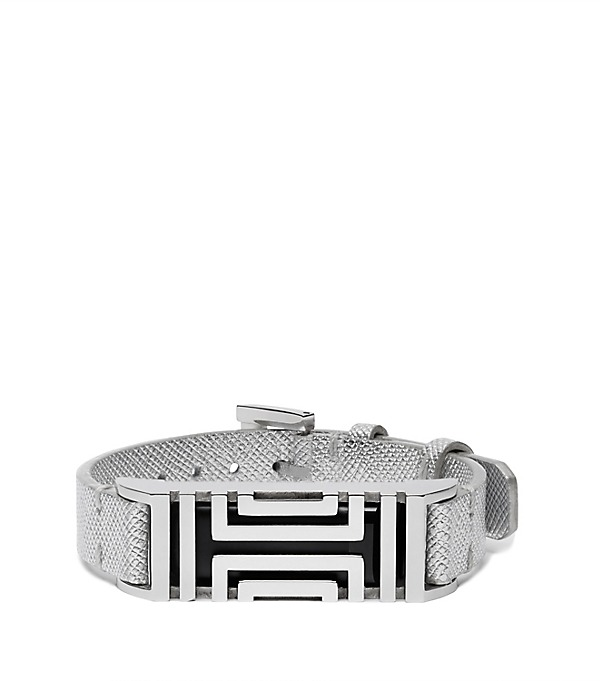 Tory Burch for Fitbit Leather Metal Bracelet
