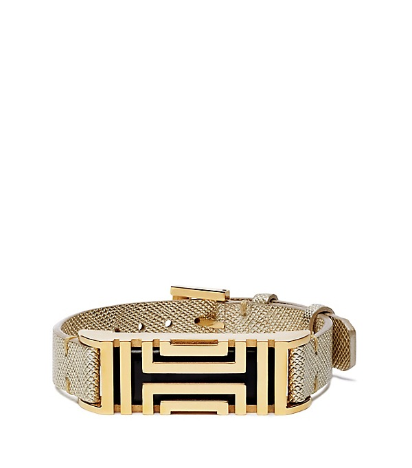 Tory Burch metallic leather fitbit