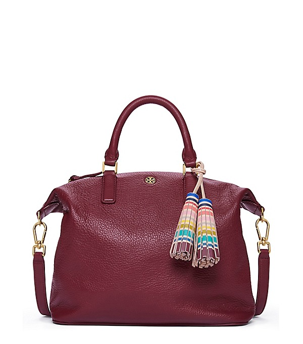 Tory Burch multi color smalls slouchy satchel