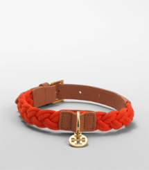 BRAIDED DOG COLLAR | HOT ORANGE | 804