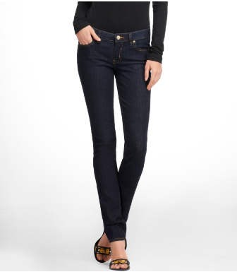 Tory Burch Super Skinny Saturated Jean