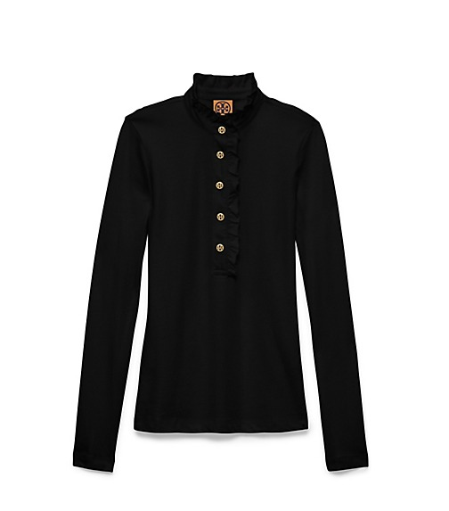 LONG-SLEEVE LIDIA POLO