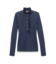 Med.navy Tory Burch Long-sleeve Lidia Polo