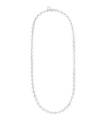 Silver Tory Burch Mini Clover Necklace