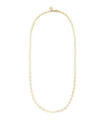 Gold Tory Burch Mini Clover Necklace
