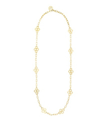 Gold Tory Burch Large Clover Necklace