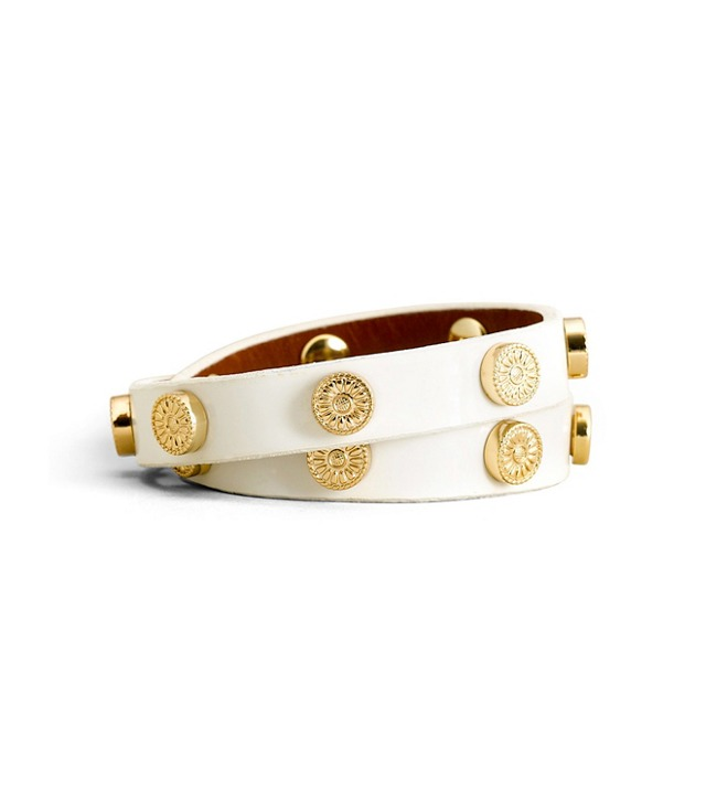 PATENT FOUNDATION DOUBLE WRAP LOGO STUD BRACELET