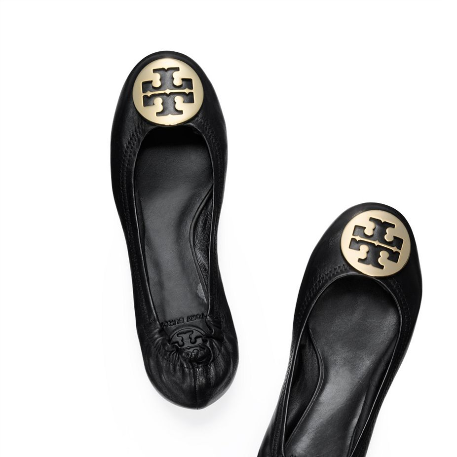 REVA BALLET FLAT - BLACK/GOLD
