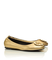 Distressed Leather Reva Ballet Flat