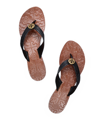 Tory Burch Tumbled Leather Thora Sandal