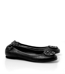 Tory Burch Tumbled Leather Reva Ballet Flat