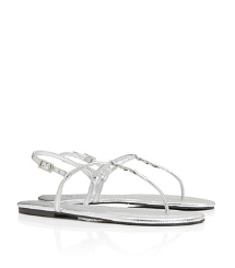 Tory Burch Metallic Tumbled Leather Emmy Sandal