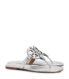 Silver Tory Burch Miller Metallic Sandal