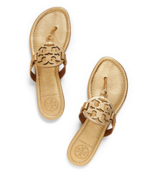 Gold Tory Burch Miller Metallic Sandal