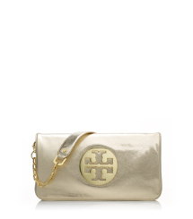 Tory Burch Metallic Reva Clutch