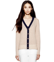 Tory Burch Cashmere Hull Cardigan