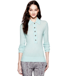 Tory Burch Gertrude Polo Sweater