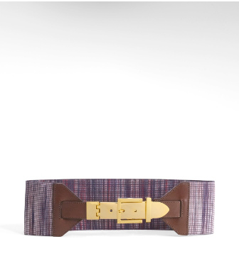 Tory Burch Marled Stretch Web Belt
