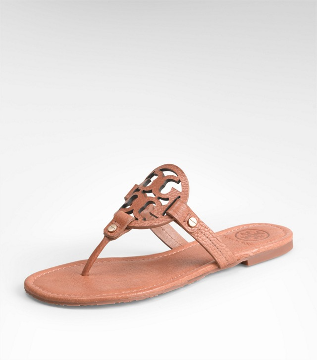 TUMBLED LEATHER MILLER SANDAL