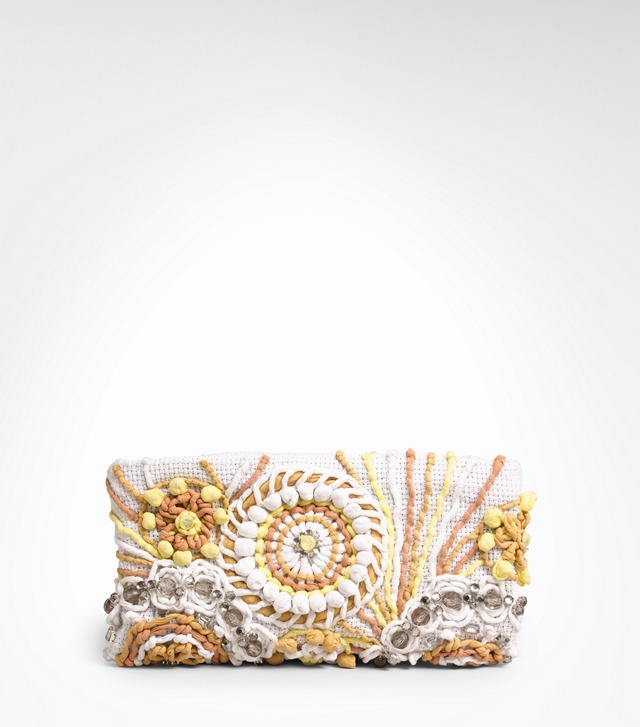 EMBROIDERED LILY CLUTCH