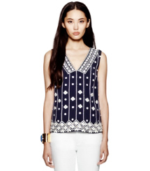 Med Navy Tory Burch Clayton Top