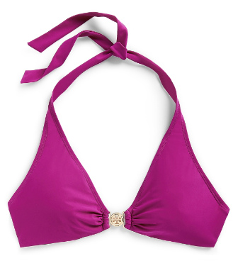 Party Fuschia. Tory Burch Logo Halter