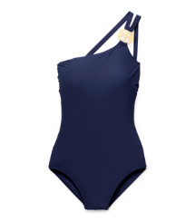 LOGO ONE-SHOULDER MAILLOT