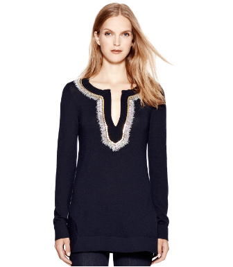 Med Navy Tory Burch Dove Tunic