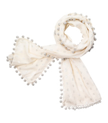 Tory Burch Metallic Ikat Scarf